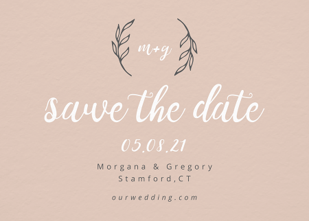 Lovely Initials Save The Date