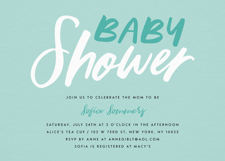 Green Brushy Baby Shower