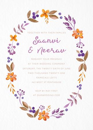 Floral Wreath Invite