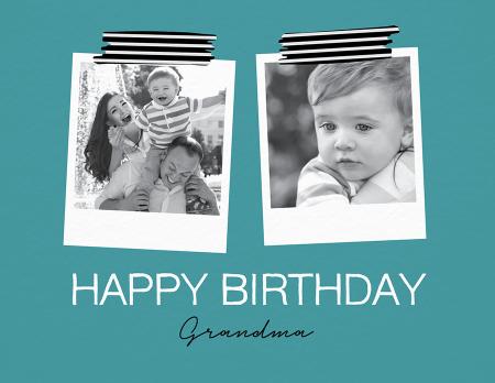 Two Polaroid Birthday