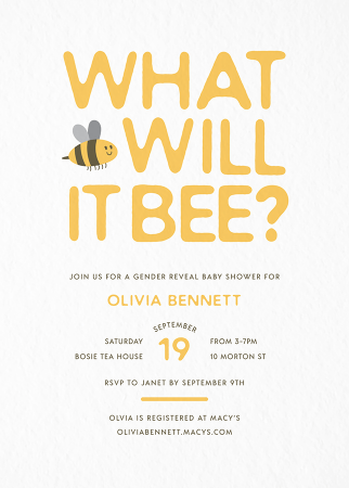 Bee Gender Reveal