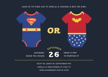 Superhero Gender Reveal