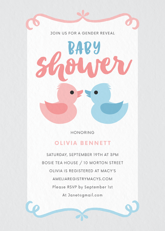 Rubber Duck Gender Reveal