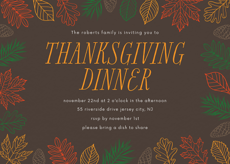 Leafy Thanksgiving Party