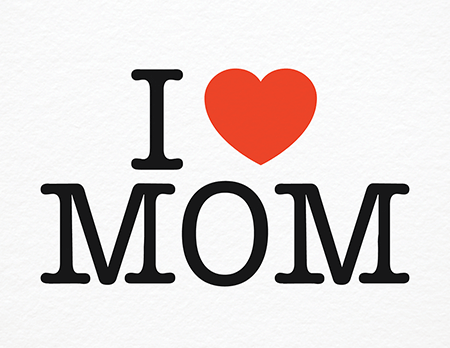 Timeless heart Mother's Day Card