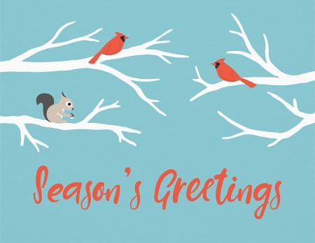 Season's Greetings Animals