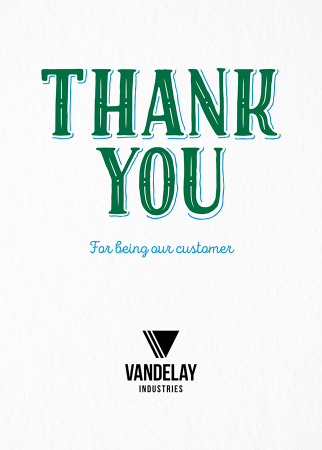 Vintage Thank You Flat Card