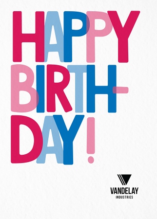 Birthday Overlap Flat Card