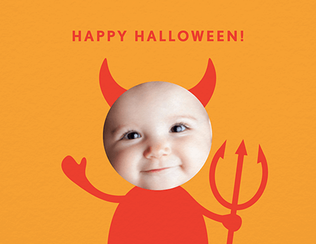 Little Devil Halloween Card