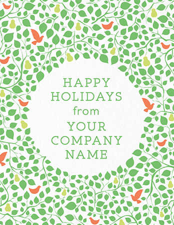 Pear Tree Corporate Holiday Card