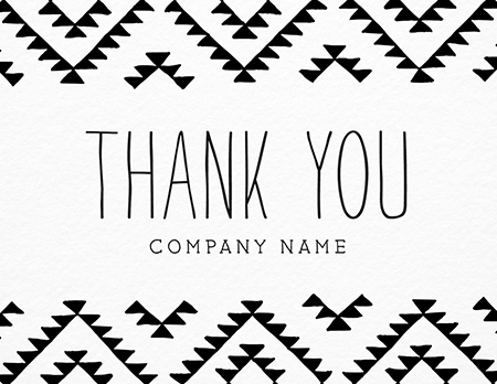 kilim custom business thank you card