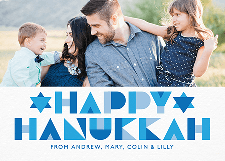 Geometric Photo Hanukkah Card