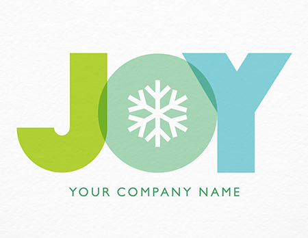 Joy Snowflake Corporate Holiday Card