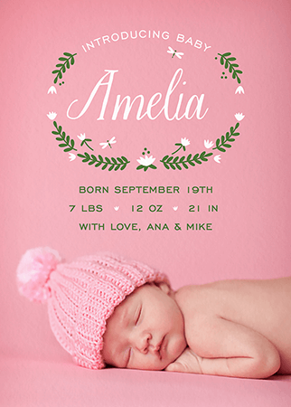 Pond Baby Announcement