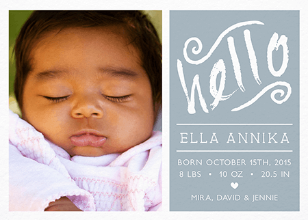 Custom Birth Announcements Mailed For You – Photo Birth Announcement