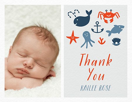 Adorable baby thank you cards | Postable