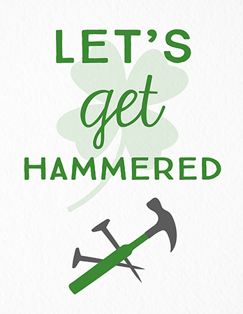 Get Hammered Clover Card
