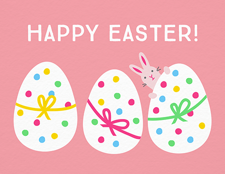 Dotty Eggs Easter Card