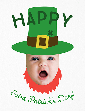 Leprechaun Baby Photo Card