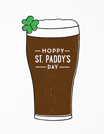 Hoppy St. Paddy's Day Card