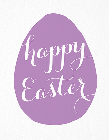 Purple Easter Egg Card