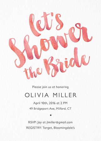 Bridal Shower Invites (Mailed For You) | Postable