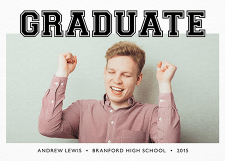 Graphic Photo Graduation Announcement