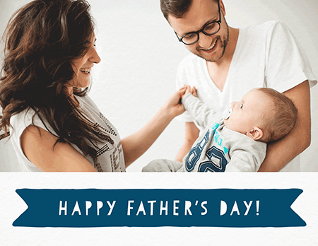 Photo Father's Day Banner Card