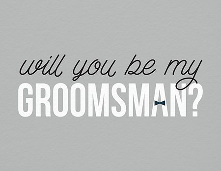 Bridal party cards postable bow tie will you be my groomsman card junglespirit Images