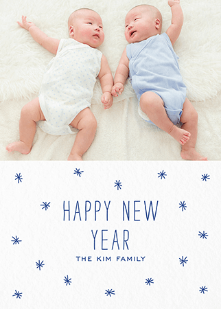 custom photo starry new year card