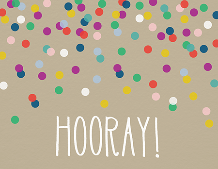 Confetti Hooray Congrats Card