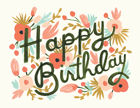 cute painted birthday card - Send Birthday Card