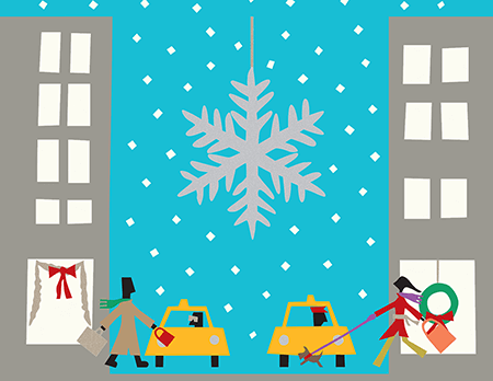 Manhattan Winter Holiday Card