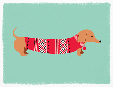 adorabledog sweater holiday card - Pet Holiday Cards