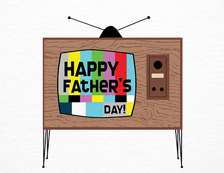 Retro TV Father's Day Card