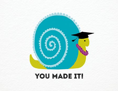 Snail Graduation Congrats Card