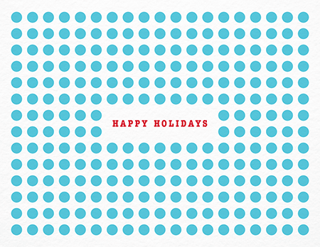 Blue Polka Dot Holiday Card