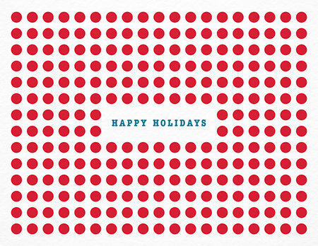 Red Circles Holiday Card