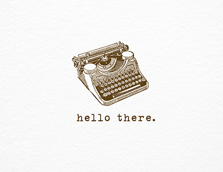 Vintage Typewriter Everyday Card