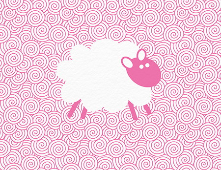 Pink Sheep Greeting Card