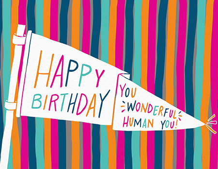 Banner HBD You Wonderful Human Birthday Card