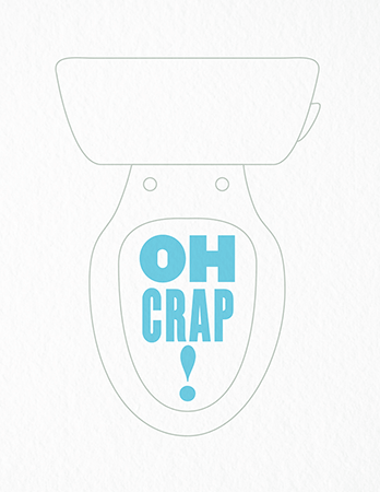 Funny Toilet Apology Card