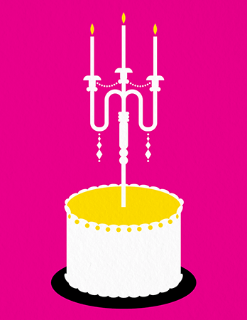 Fancy Cake Birthday Card