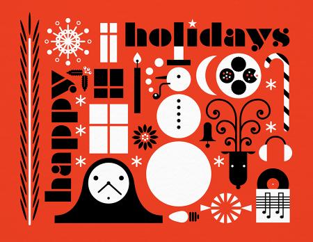 Festive Happy Holidays