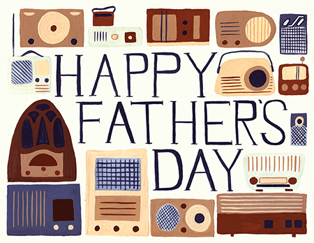 Painted Radio Father\'s Day Card