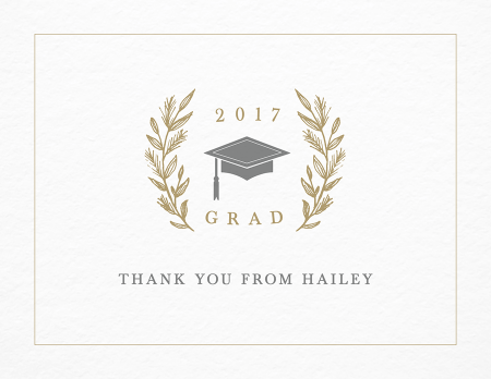laurel graduation thank you - Graduation Thank You Cards