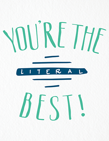 Funny You're the Best Friend Card