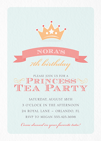 Princess Tea Party Invite