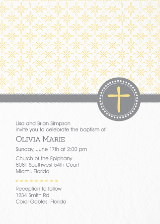 Pattern Baptism Invite