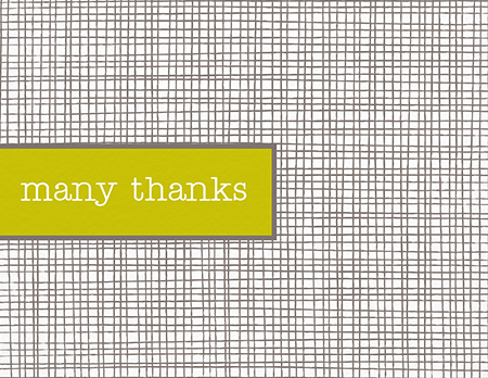 Classic Checkered Thank You Card